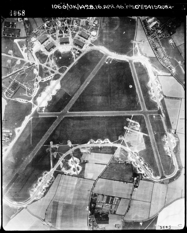 Aerial photograph of Horsham St Faith airfield, 16 April 1946, taken by No. 541 Squadron, sortie number RAF/106G/UK/1428. English Heritage (RAF Photography).
