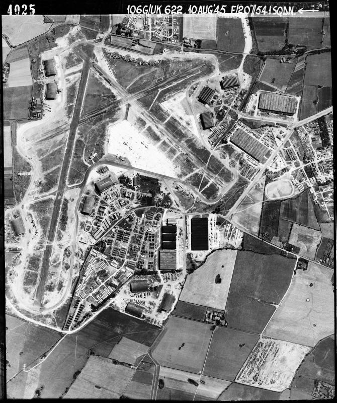 Aerial photograph of Burtonwood airfield, 10 August 1945. Photograph taken by No. 541 Squadron, sortie number RAF/106G/UK/622. English Heritage (RAF Photography).
