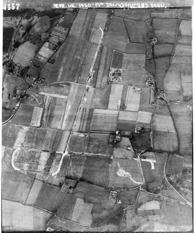 Aerial photograph of Bisterne airfield, looking north, 17 January 1947. Photograph taken by No. 82 Squadron, sortie number RAF/CPE/UK/1930. English Heritage (RAF Photography).