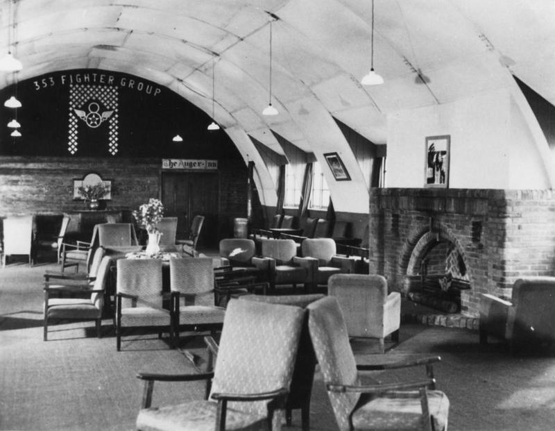 The lounge of the Officers Club at Raydon air base. When the 353rd Fighter Group were stationed there, it was known as
