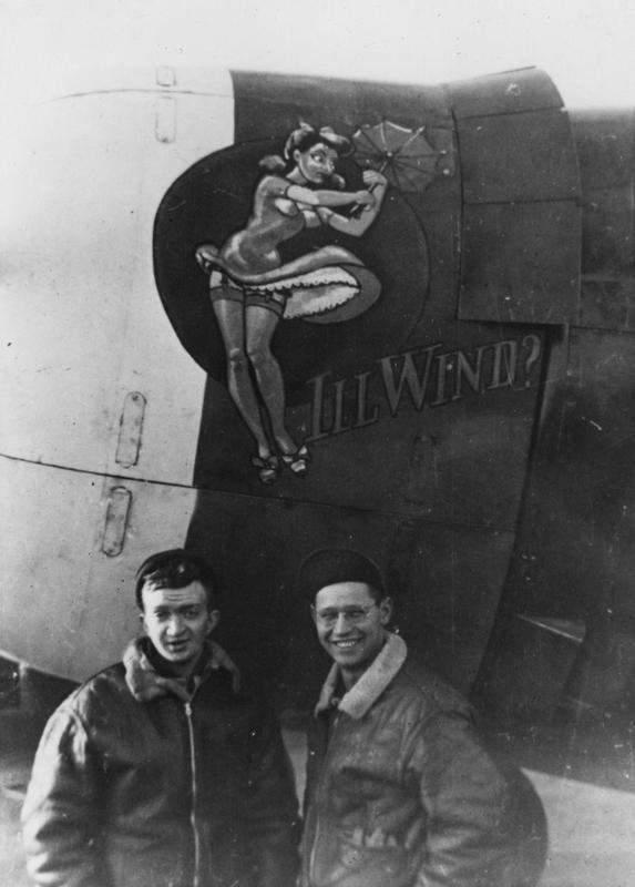 4th Fighter Group personnel beside P-47 Thunderbolt