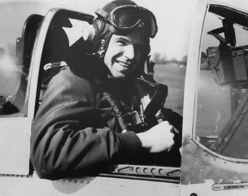 Lieutenant-Colonel Elwyn G. Righetti, a pilot of the 338th Fighter Squadron, 55th Fighter Group.