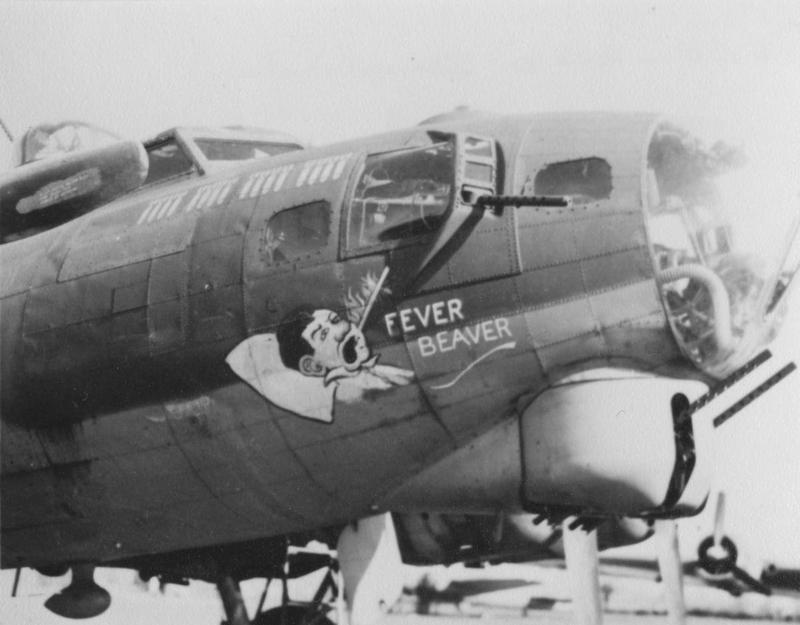 The nose art of a B-17 Flying Fortress (serial number 42-38047) nicknamed