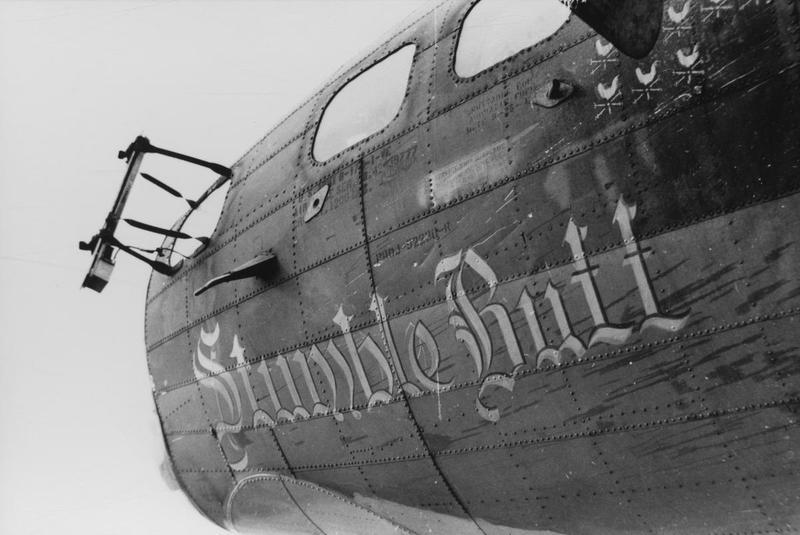 Nose art of a B-17 Flying Fortress (serial number 42-39777) nicknamed