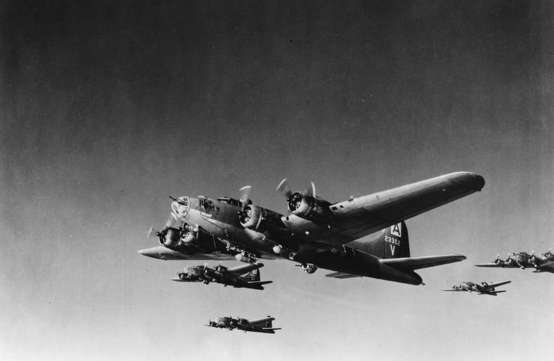 A B-17 Flying Fortress (serial number 42-3352) nicknamed
