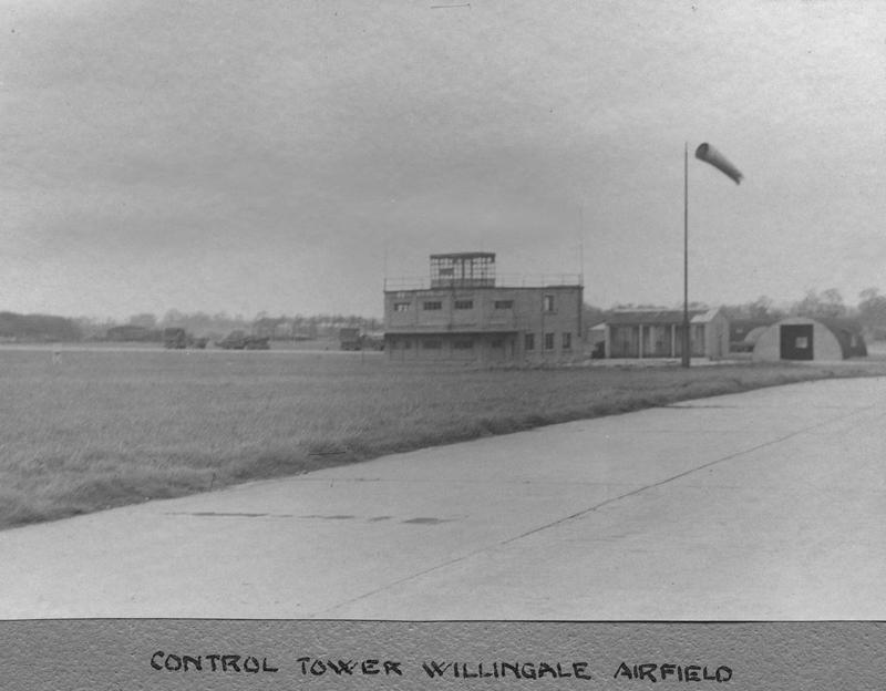 The control tower of the 387th Bomb Group at Willingale Airfield.