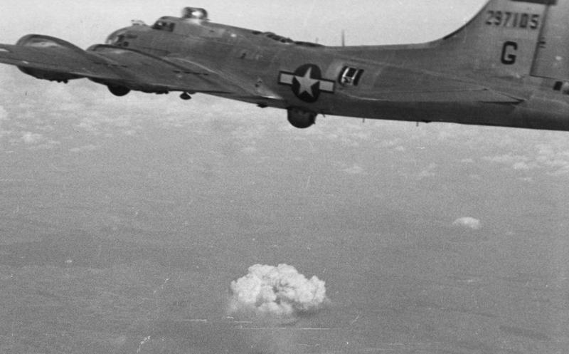A B-17 Flying Fortress (serial number 42-97105) of the 388th Bomb Group.
