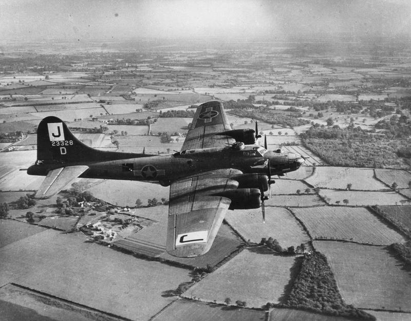 A B-17 Flying Fortress (serial number 42-3328) nicknamed