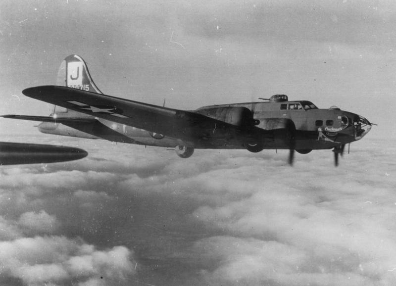 A B-17 Flying Fortress (serial number 42-30715) nicknamed