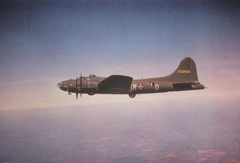 A B-17 Flying Fortress (serial number 42-3259) nicknamed