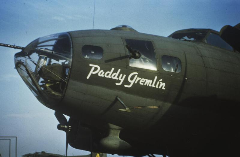 The nose art of B-17 Flying Fortress (WA-Y, serial number 42-3325) nicknamed