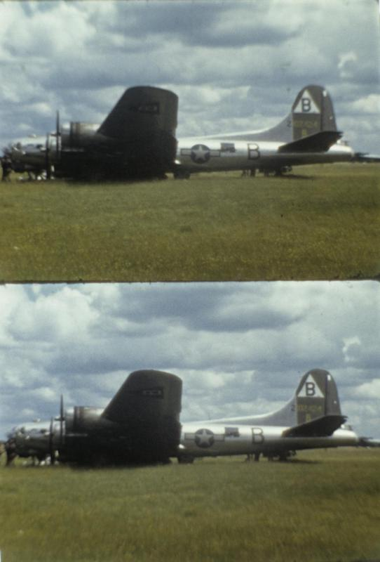A B-17 Flying Fortress (NV-B, serial number 42-102424) nicknamed
