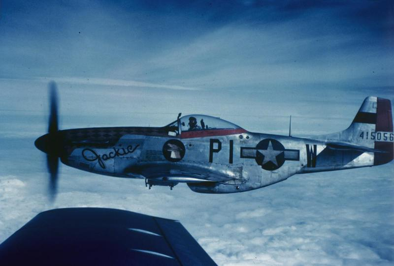 A P-51 Mustang (PI-W, serial number 44-15056) nicknamed