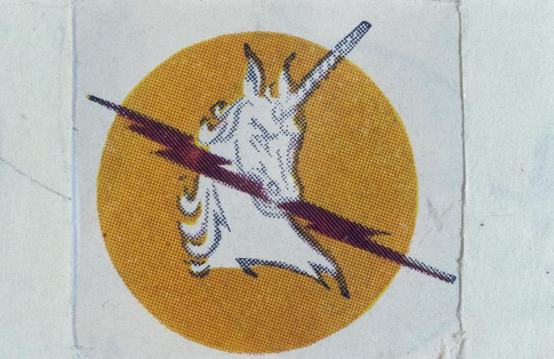 The insignia of the 368th Fighter Squadron, 359th Fighter Group.