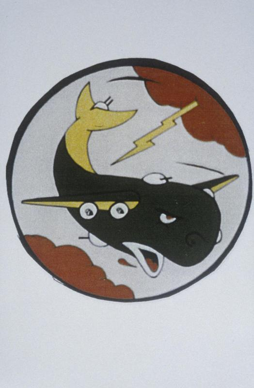 The insignia of the 330th Bomb Squadron, 93rd Bomb Group.