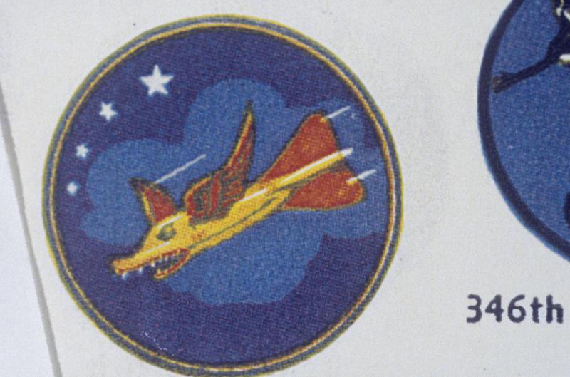 The insignia of the 337th Bomb Squadron, 96th Bomb Group.