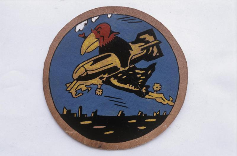 The insignia of the 351st Bomb Squadron, 100th Bomb Group.