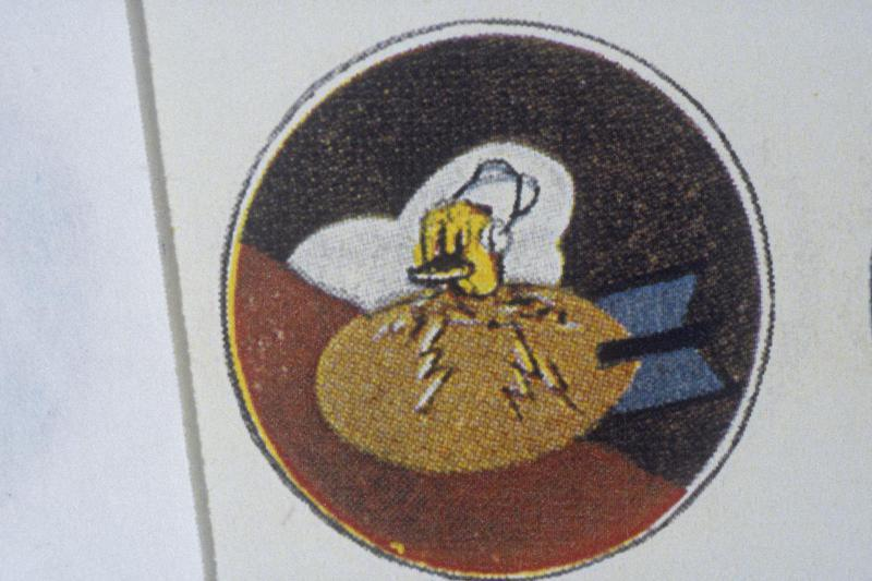 The insignia of the 418th Bomb Squadron, 100th Bomb Group.
