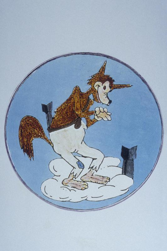 Insignia associated with the 359th Bomb Squadron, 303rd Bomb Group of the 8th Air Force.