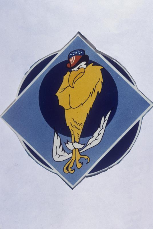 The insignia of the 508th Bomb Squadron, 351st Bomb Group.