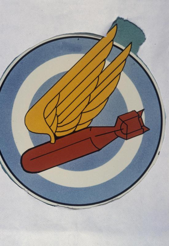 The insignia of the 509th Bomb Squadron, 351st Bomb Group.