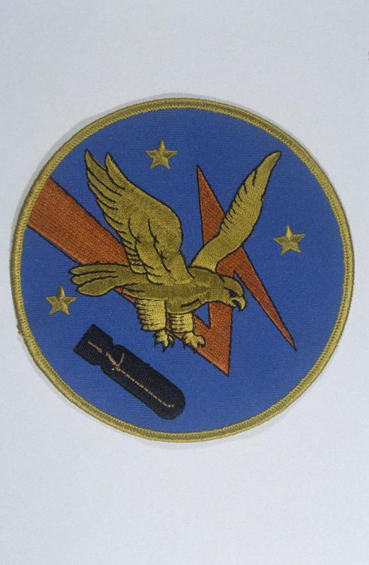 The insignia of the 526th Bomb Squadron, 379th Bomb Group.