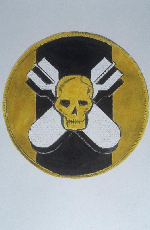 The insignia of the 527th Bomb Squadron, 379th Bomb Group.