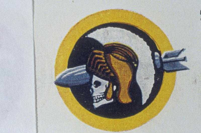 The insignia of the 533rd Bomb Squadron, 381st Bomb Group.