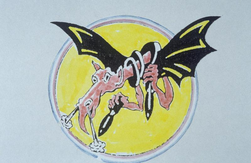 The insignia of the 534th Bomb Squadron, 381st Bomb Group.