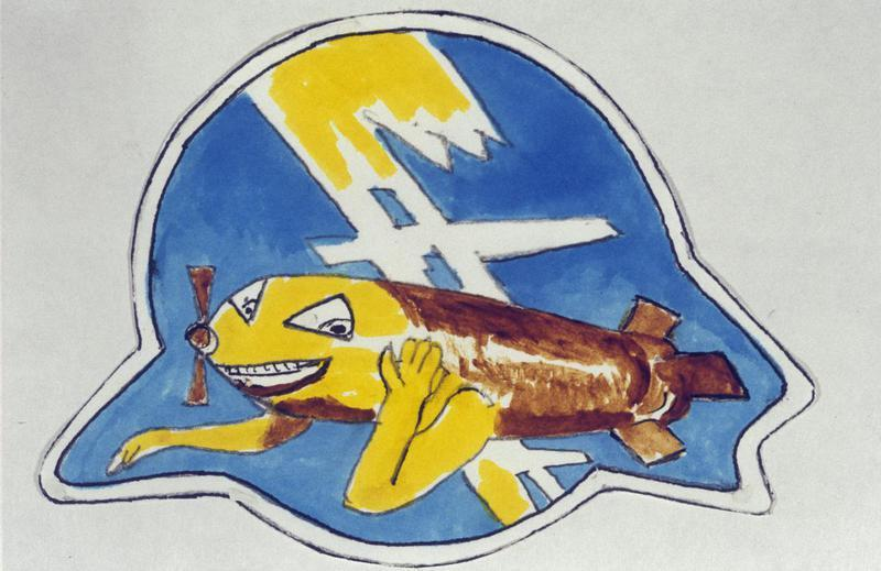 The insignia of the 544th Bomb Squadron, 384th Bomb Group.