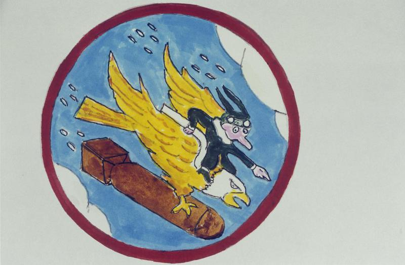 The insignia of the 546th Bomb Squadron, 384th Bomb Group.