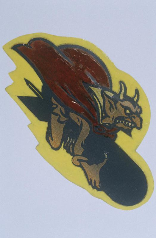 The insignia of the 549th Bomb Squadron, 385th Bomb Group.