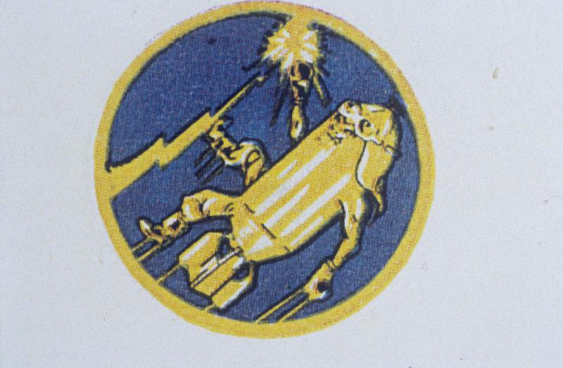 The insignia of the 562nd Bomb Squadron, 388th Bomb Group.