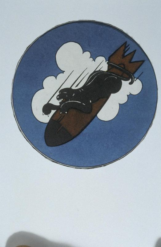The insignia of the 568th Bomb Squadron, 390th Bomb Group.