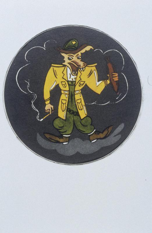 The insignia of the 571st Bomb Squadron, 390th Bomb Group.