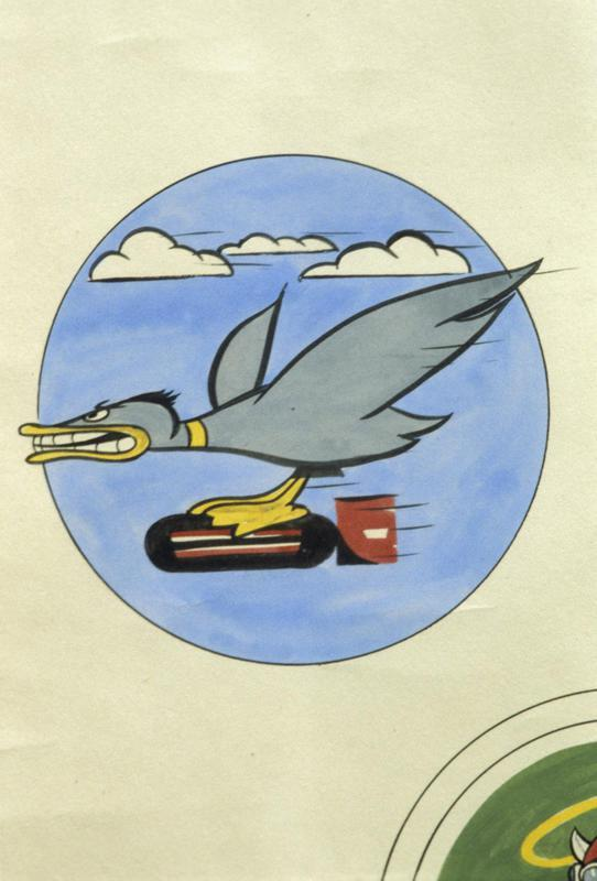 The insignia of the 600th Bomb Squadron, 398th Bomb Group.
