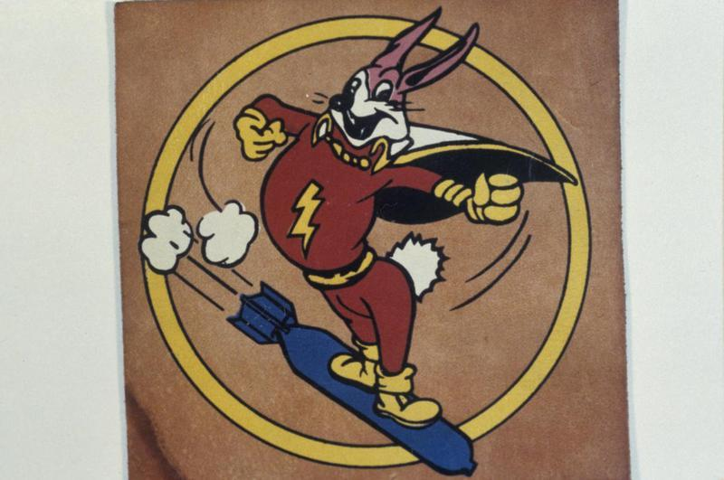 The insignia of the 715th Bomb Squadron, 448th Bomb Group.