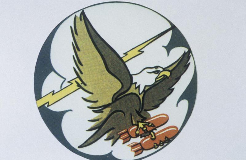 The insignia of the 731st Bomb Squadron, 452nd Bomb Group.
