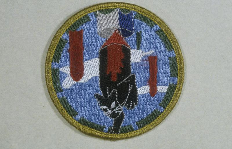 The insignia of the 748th Bomb Squadron, 457th Bomb Group.