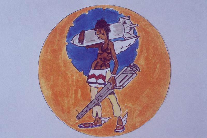 The insignia of the 788th Bomb Squadron, 467th Bomb Group.