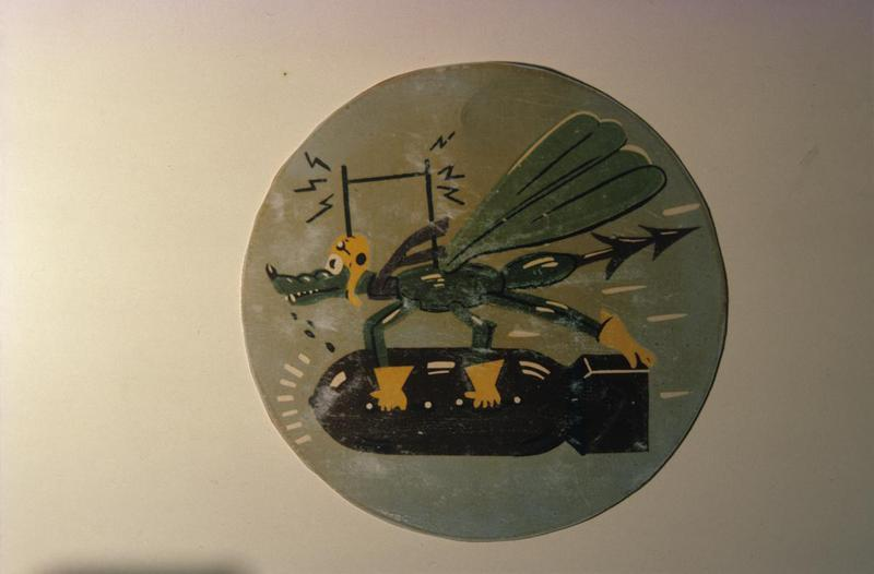 The insignia of the 835th Bomb Squadron, 486th Bomb Group.