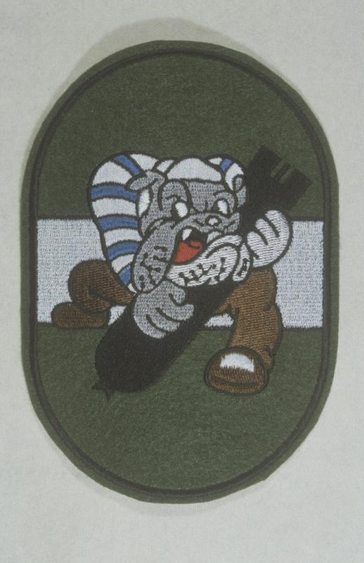 The insignia of the 852nd Bomb Squadron, 491st Bomb Group.