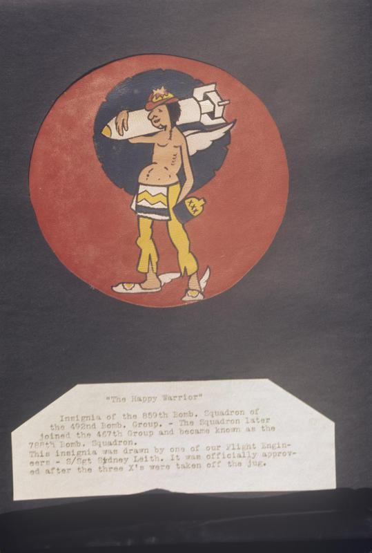 The insignia of the 859th Bomb Squadron, 492nd Bomb Group.