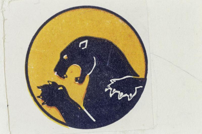 The insignia of the 338th Fighter Squadron, 55th Fighter Group.