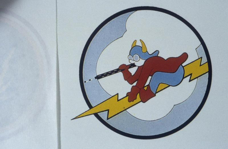 The insignia of the 385th Fighter Squadron, 364th Fighter Group.
