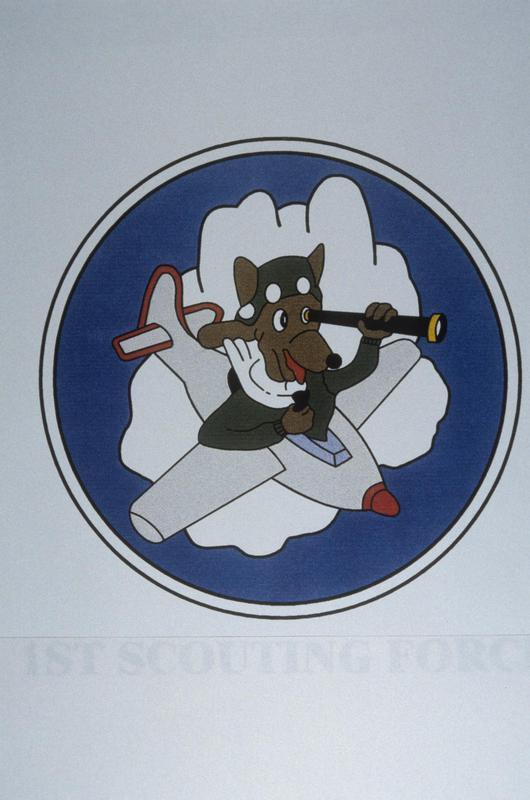 The insignia of the 1st Scouting Force, 8th Air Force.