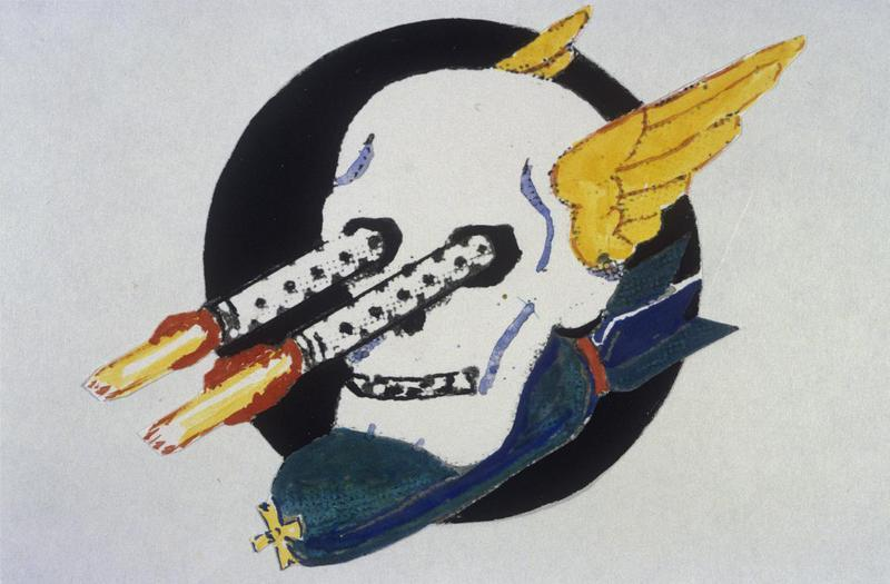 The insignia of the 640th Bomb Squadron, 409th Bomb Group.