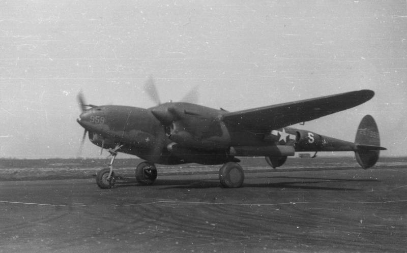 P-38J-10-LO Lightning (serial number 42-67959) of the 20th Fighter Group. Aircraft subsequently transferred to the 95th Fighter Squadron, 82nd Fighter Group. Aircraft lost near Munich, Germany 8 January 1945 after departing from Vincenzo, Italy. The pilot, James A. Garmon, was KIA (MACR 10941).