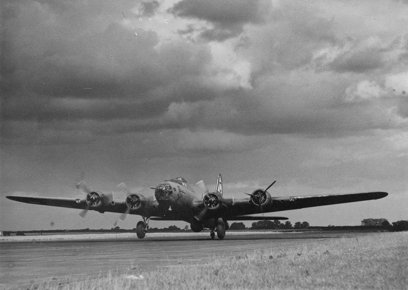 A B-17 Flying Fortress nicknamed
