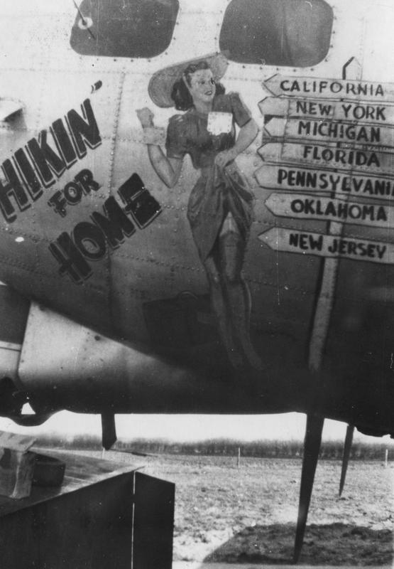 The nose art of the B-17G Flying Fortress nicknamed
